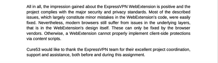 independent audit firm cure53 approves ExpressVPN's no log policy