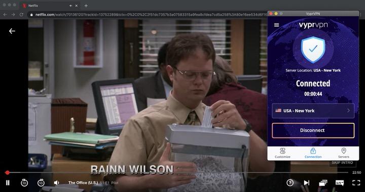 Usando VyprVPN, puedes cambiar fácilmente la biblioteca de Netflix. Actualmente, VyprVPN puede ayudarle a acceder a la mayor biblioteca de EE.UU.