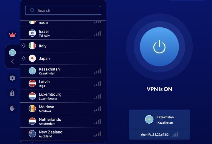 VeePN имеет сервер и в Казахстане. Скорость скачивания может показаться немного медленной, однако, это нормально для ежедневного использования. С VeePN у Вас будет IP-адрес города Алматы.