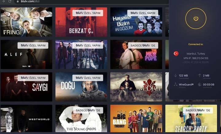 BluTV tüm içerikleri Avrupa'da yüksek kalitede izlemek için kullanacağınız VPN programlarından biri de CyberGhost.