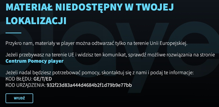 The problem you will face when you want to watch Player PL outside Poland.